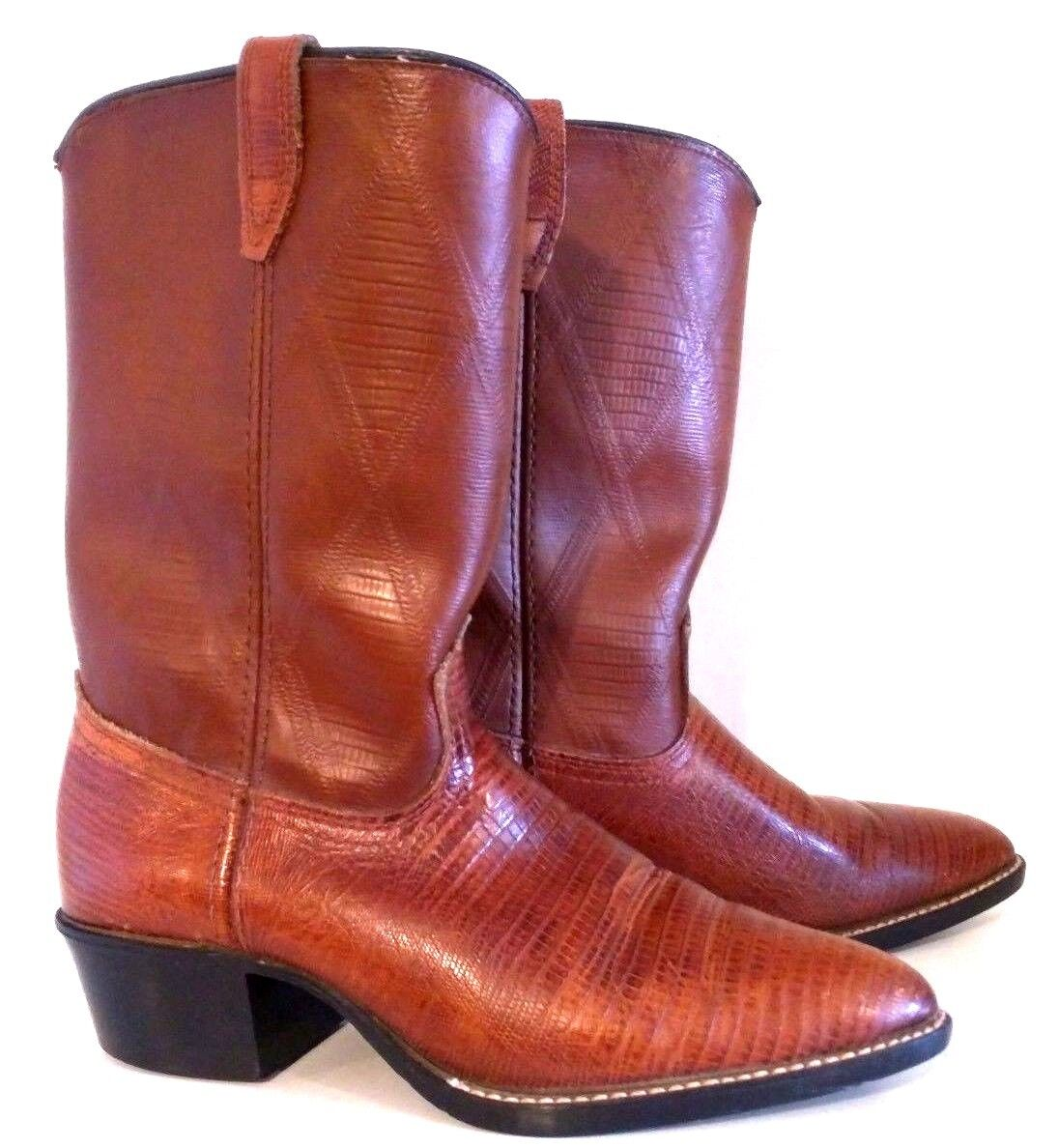 ACME - Men's Brown Pointed Toe Cowboy Boots - Size  5.5 B