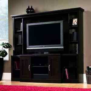 La Foto Se Está Cargando Entertainment Unit Tv Stand Media Storage Center Cinnamon