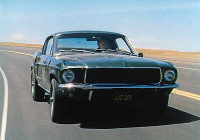 STEVE McQUEEN:  Bullitt 8x10 FORD MUSTANG FASTBACK color #12 Muscle Car Classic