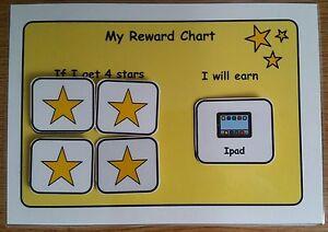 Thumbs Up A5 Behaviour Reward Chart Pre School /& SEN//ADHD//ASD//Autism//SPD