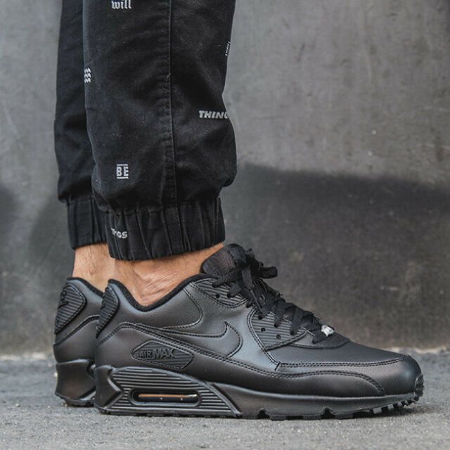 nike air max 90 leather triple black,nike air max 90 leather