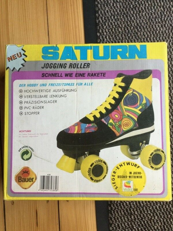 Jogging Roller Rollschuhe Saturn Vedes 1991 Kult Gr 38 ausgefallen Vintage retro