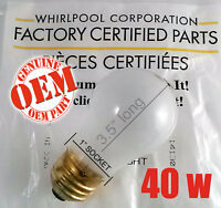 Factory Genuine Kenmore Refrigerator Or Freezer 40w Bulb