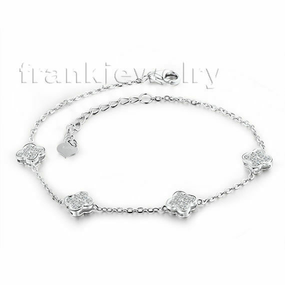 Jewelry Sets Solid 18K White gold Engagement Wedding Natural Diamonds Bracelet