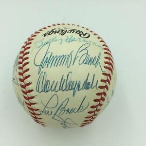 fe145824c70 Johnny Bench Don Drysdale Duke Snider Lou Brock Hall Of Fame Signed ...