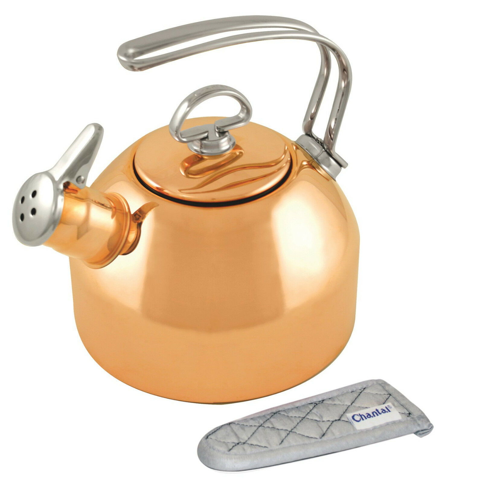 Chantal 1.8 Qt Copper Classic Stovetop Whistle Tea Kettle Teakettle New