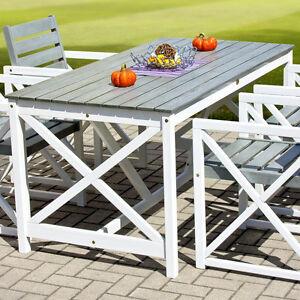 Karlstad Gartentisch 160x80 Esstisch Balkontisch Holztisch Garten