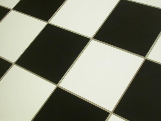 Bodenfliesen schwarz weiß Schachbrett 20x20 Fliesen 1