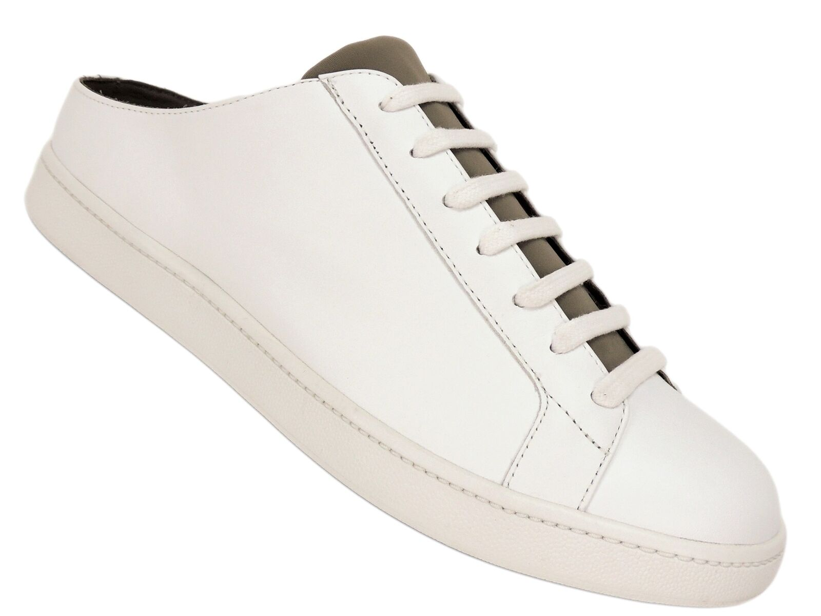 Vince Women's Varley White Leather Sneakers White/Woodsmoke Size 9 M