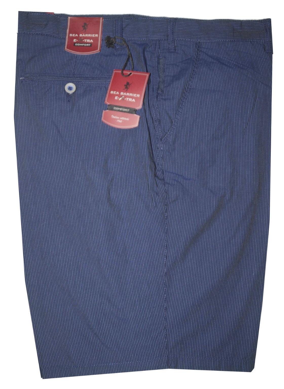 Bermuda uomo TAGLIE FORTI  57 59 61 61 61 63 65 cotone blu righe SEA BARRIER calibrato 8ea866