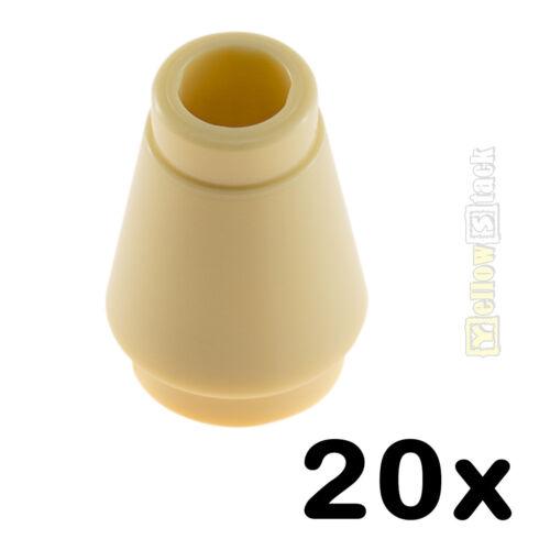20x LEGO® 4589b 1x1 Kegel-Stein beige sandfarben tan NEU