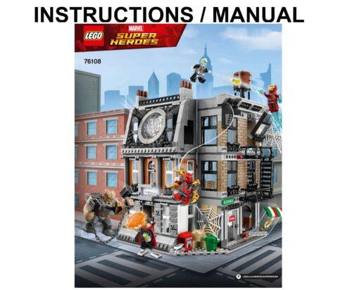 LEGO Super Heroes 76108 Sanctum Sanctorum Showdown INSTRUCTIONS ONLY