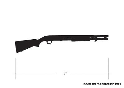 Mossberg DieCut Decal Sticker Shotgun mosberg shot gun