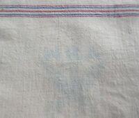 Antique Linen Feed Grain Sack Red&Blue Stripe 10lb.Bag Domino Sugar 'NRA Member'