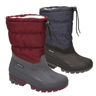 fc0b1a384a65a3 BOWS® LIV Damen Mädchen Jungs Winter Snow Boots Schlupfstiefel warm  wasserdicht