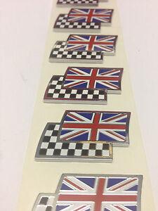 Genuine-MG-Rover-Union-Jack-amp-Chequered-Flag-Enamel-Badge-DAG000070-NEW