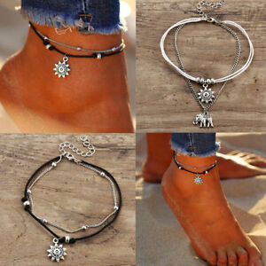 Women-Trendy-Silver-Boho-Ankle-Bracelet-Foot-Feet-Girls-Beach-Chain-Jewelry