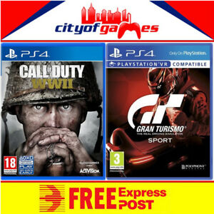 Gran-Turismo-Sport-and-Call-of-Duty-WWII-Bundle-PS4-New-amp-Sealed-In-Stock