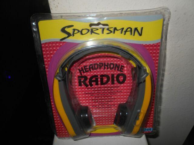 Sportsman Radio Headset AM//FM Model MFR-M16 Black