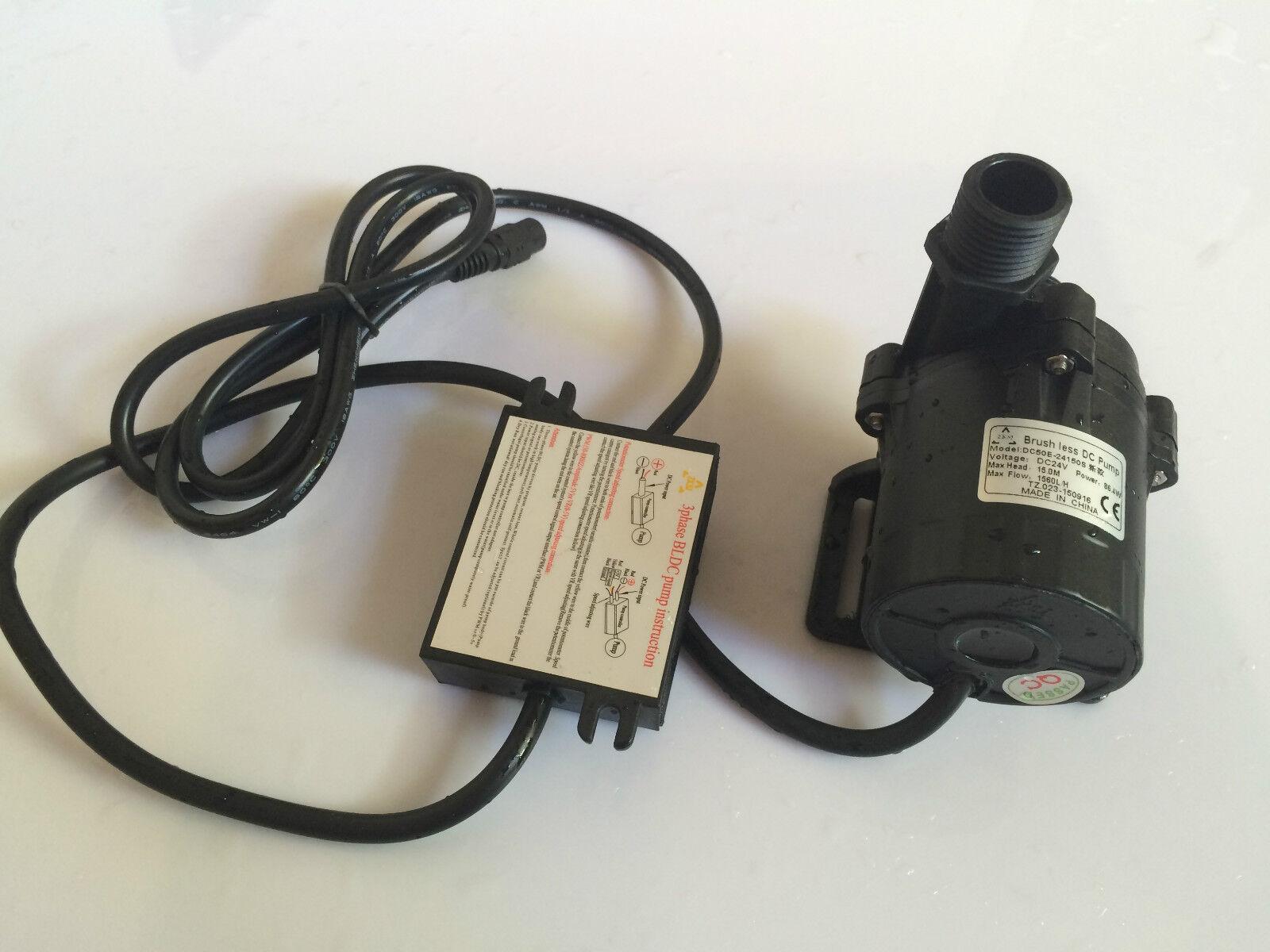 24V DC micro bomba de agua sumergible bomba de agua, 1200LPH, 15M para ciclo agua Sys