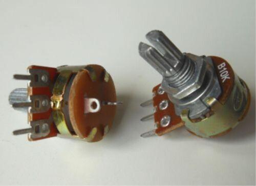 OFF Switch Linear Potentiometer Pot 10K New 10pcs WH148 B10K Shaft 15mm ON