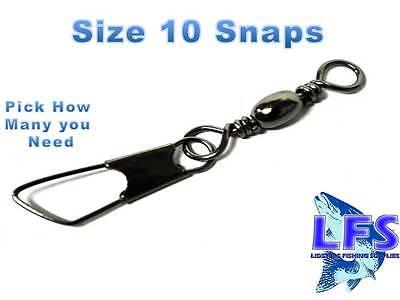 AMERICAN SNAP FISHING SWIVELS SIZE 10 Fishing Tackle 10 25 50 100 500 1000