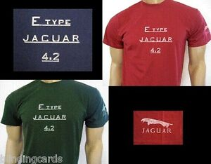 2d571fc3 JAGUAR E-TYPE 4.2 LOGO T-SHIRT - Series 1, 1½ & 2 - Classic Roadster ...