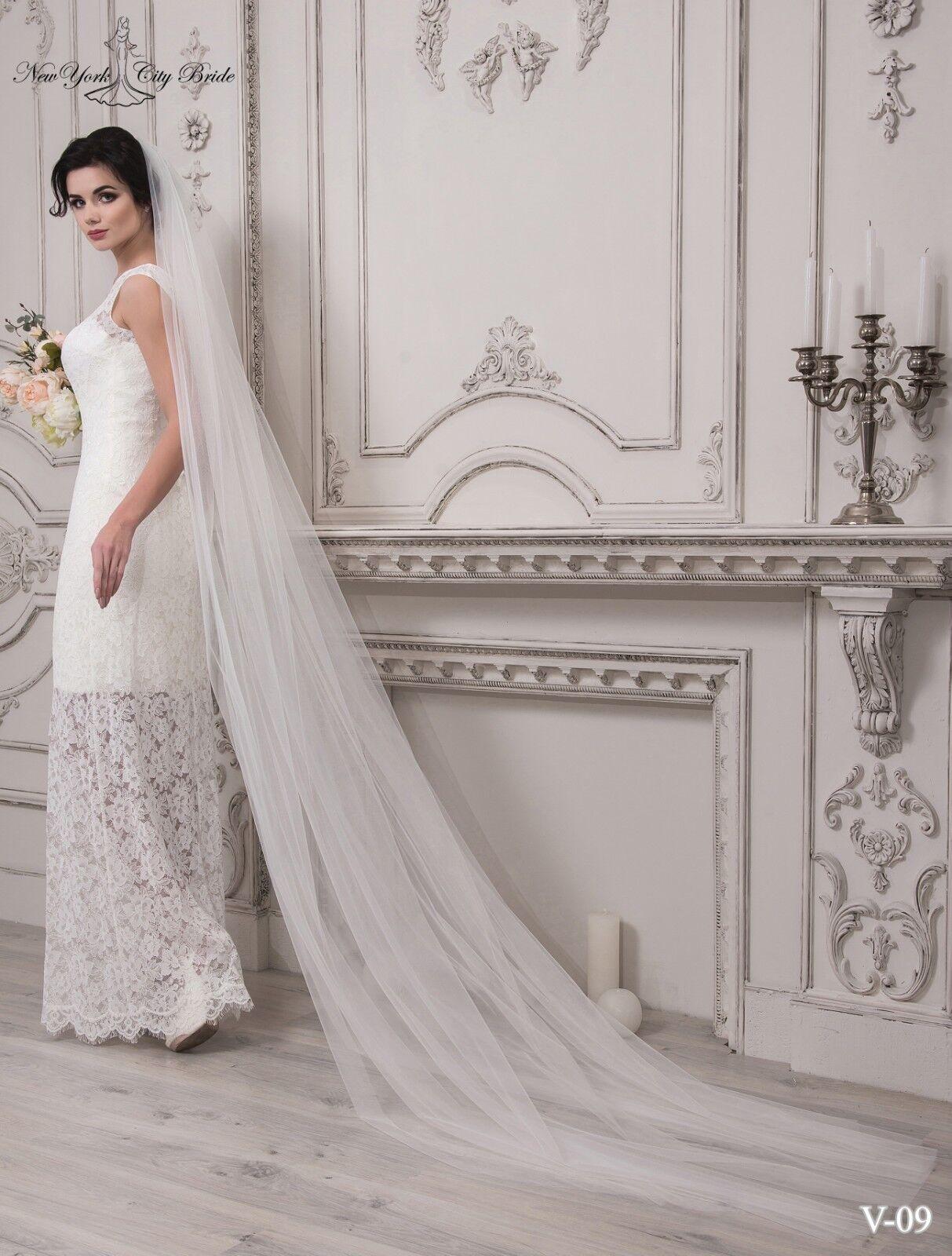 Wedding Veil Monica from NYC Bride,Bridal veil,White veil,Ivory veil,Cathedral
