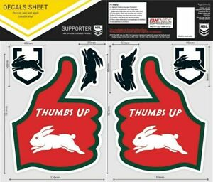 NRL South Sydney Rabbitohs Thumbs Up Decal Sticker Car Tattoo iTag