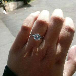 Damen-Verlobung-2-00-ct-Diamant-Solitaer-Liebe-Versprechen-Ring-Weissgold-Finish