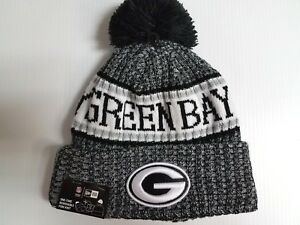 Green Bay Packers New Era Knit Hat Black 2018 Sideline Beanie ... e4f0c0aff