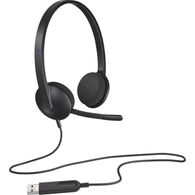 LOGITECH H340 USB Stereo Headset with Noise Cancelling Microphone 981-000507