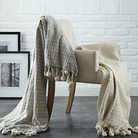 Amraupur Overseas 2 Pack 100-percent Cotton Cross-stitch Throws