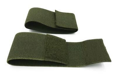 Goma ancha 5 cm sujeta pernera bota tipo militar verde OD con cinta cierre