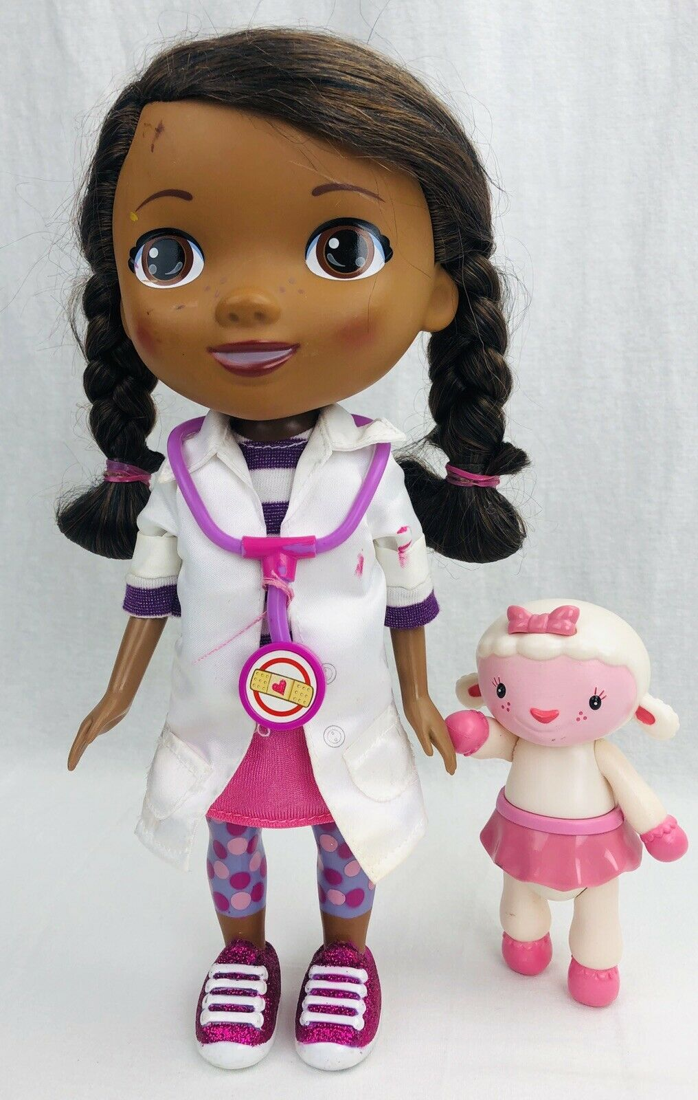 Doc McStuffins Walk 'N Talk Doc Mobile Mobile Mobile Doll w  Lamby Figure TESTED FREE SH 30a7be