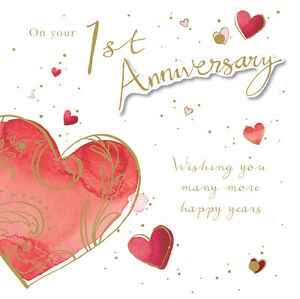 1st-Anniversary-Card-034-Heart-Design-034-Square-Size-6-25-034-x-6-25-034-JA138