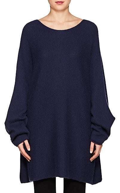 NWT  The Row Clyde Cashmere Silk Sweater in Lapis bluee sz S