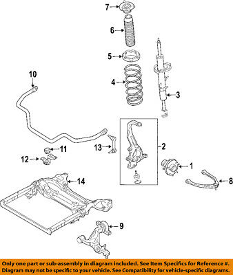 One New Infiniti Suspension Control Arm and Ball Joint Assembly 54500EJ72A