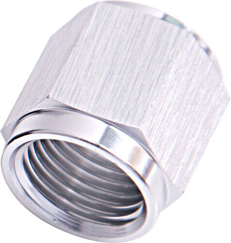 "Aeroflow AF818-04S Tube Nut -4an To 1/4"" Hard Line Silver"