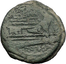 Roman Republic 148BC Rome As JANUS GALLEY SHIP Authentic Ancient Coin i57578