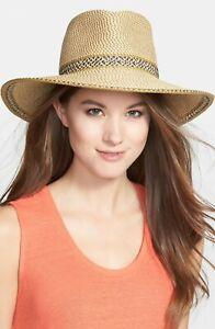 * NWT Eric Javits 'Georgia' Woven Hat - Brown Peanut 13802 One Size UPF50+