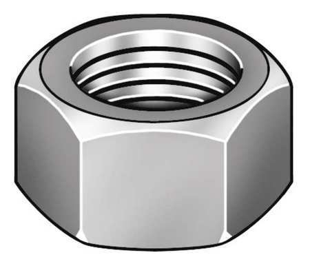 ZORO SELECT 6CA71 M4-0.70 Class 6 Zinc Plated Finish Carbon Steel Hex Nuts 100