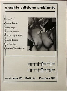 Ernst Bushe, Berlin Graphic Editions Ambiente Vintage Advertisement 1971