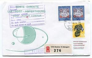 Adaptable Ffc 1966 Phila Service Forst Direct Flight Genf Kuala Lumpur Registered Retour Soyez Astucieux Dans Les Questions D'Argent