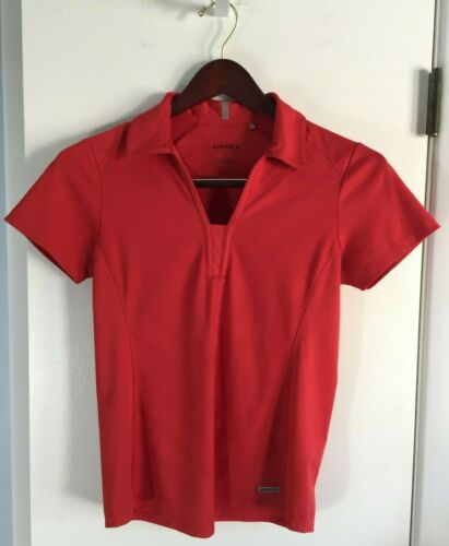 Annika Cutter & Buck Red Polo Athletic Top Size S