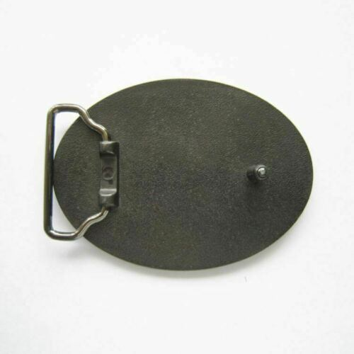 Vintage Classic Oval Blank Western Metal Belt Buckle