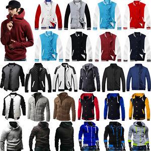 Men-Padded-Bomber-Jacket-Sweater-Hoodie-Baseball-Coat-Jumper-Sweatshirt-Tops-US