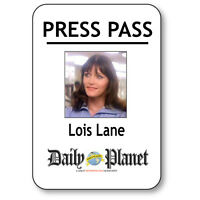 Lois Lane Name Badge Halloween Costume Prop For Superman Press Pass Pin Back