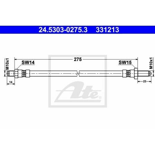 1 Bremsschlauch ATE 24.5303-0275.3 passend für SAAB