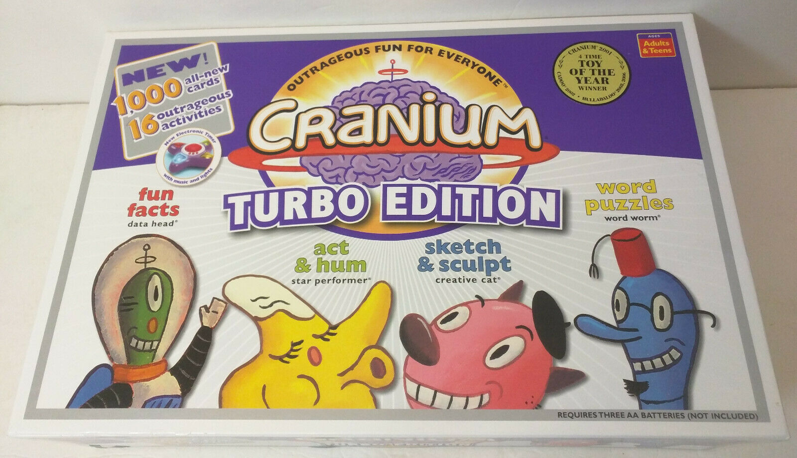 Cranium Turbo Edition Game - OPEN BOX CONTENTS SEALED 100% COMPLETE 2004